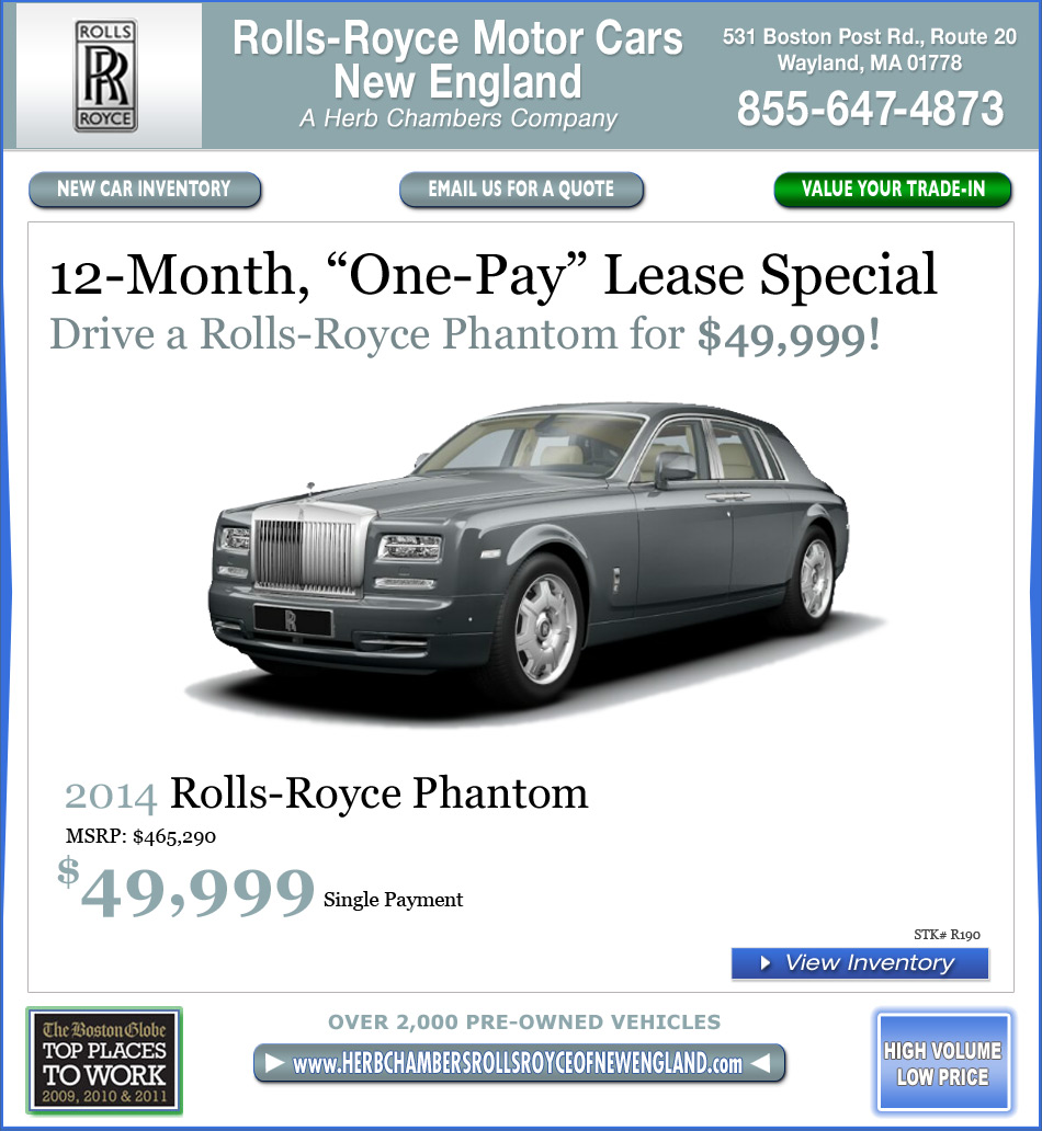 Rolls-Royce Motor Cars New England, A Herb Chambers
