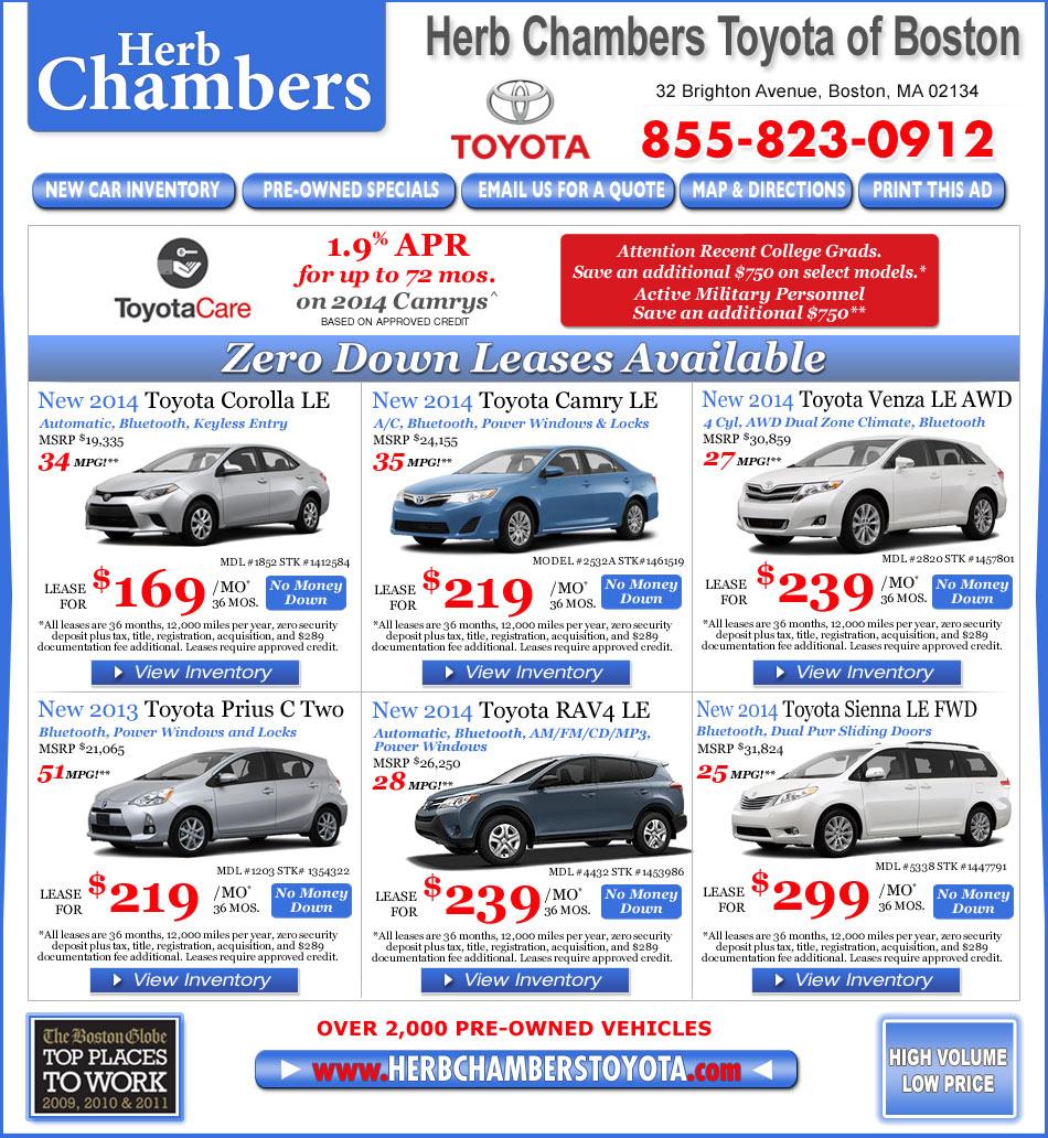 Lease Bmw 428i: Herb Chambers Toyota Of Boston