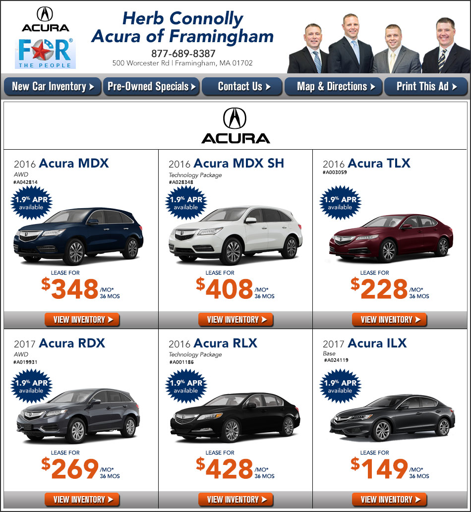 Herb Connolly Acura Of Framingham New