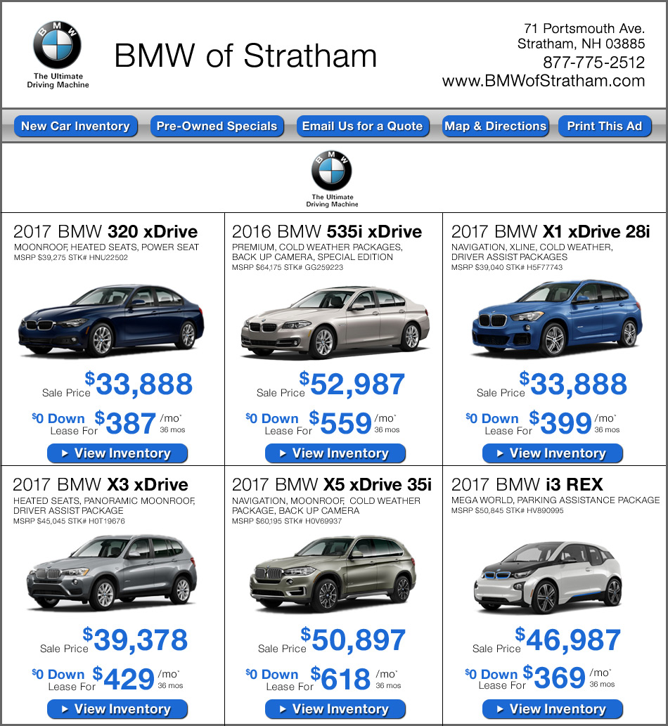 One Year Car Lease Specials