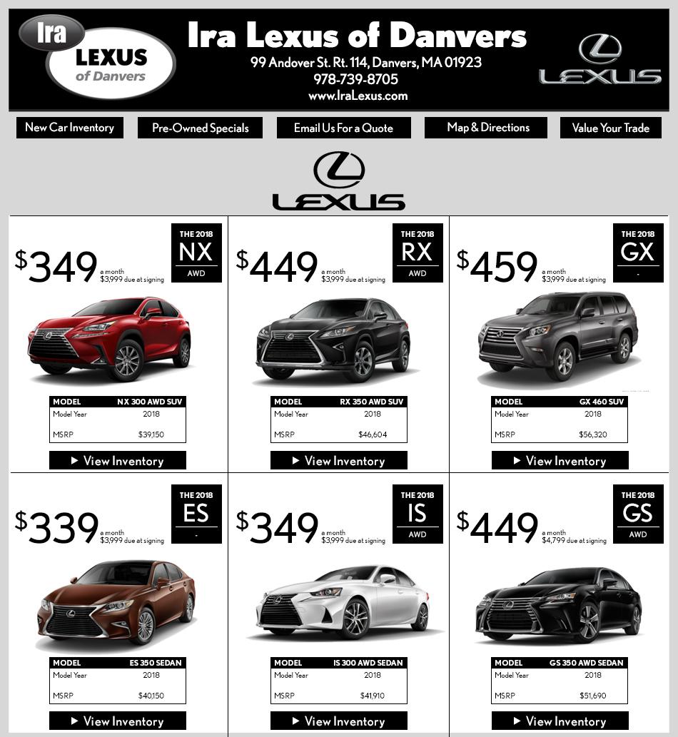 Lexus Dealer in Danvers : Ira Lexus - Great Lexus Deals!
