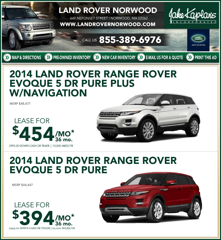 Boston.com: Buy/Lease Land Rover Your New Land Rover From