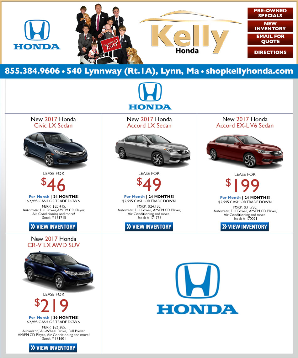 Kelly Honda of Lynn. Shop Our Internet Specials For Your ...