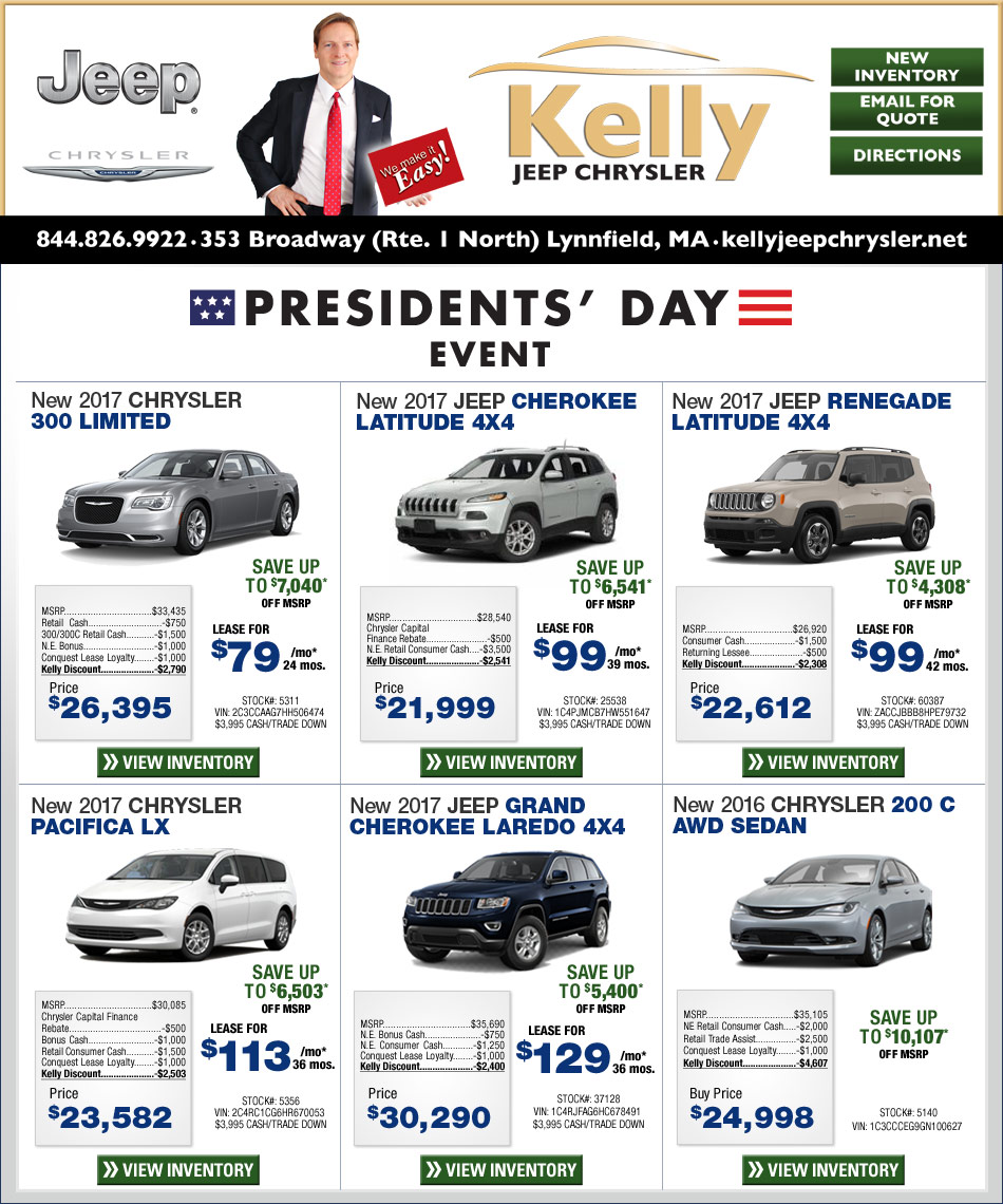 Jeep Chrysler Dealer Boston Kelly Jeep Chrysler Deals On