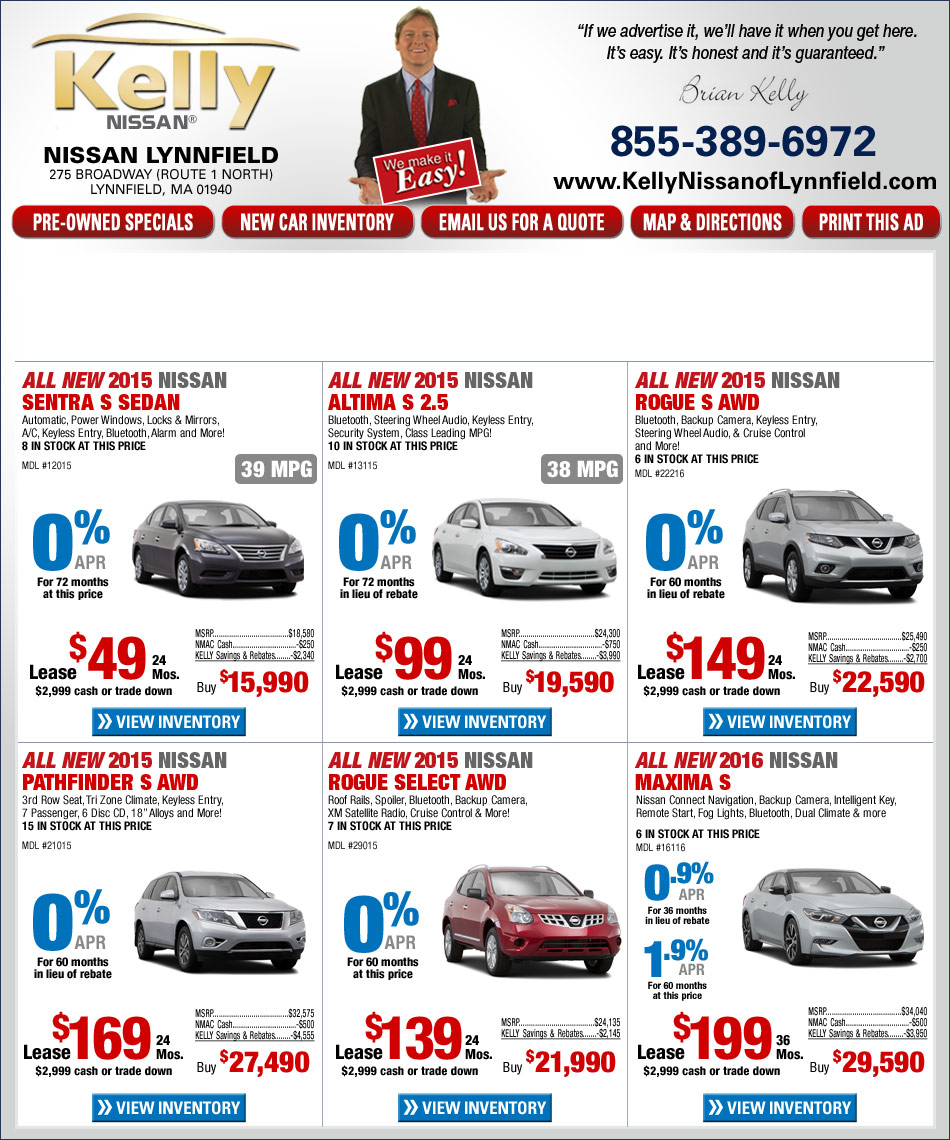 Kelly Nissan Lynnfield >> Kelly Nissan Lynnfield Lease Deals Cupcake Coupons Toronto