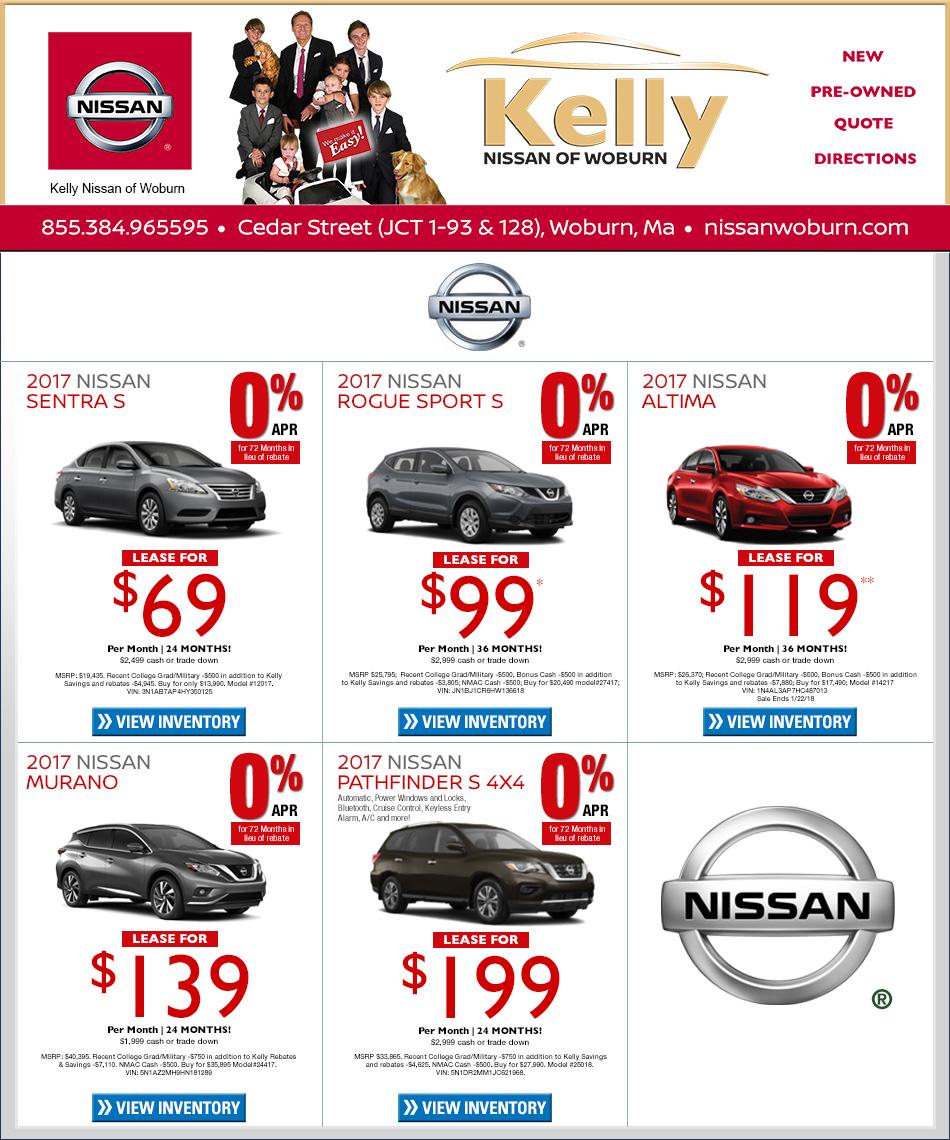 Nissan Dealer Boston Kelly Nissan Of Woburn On Boston Com