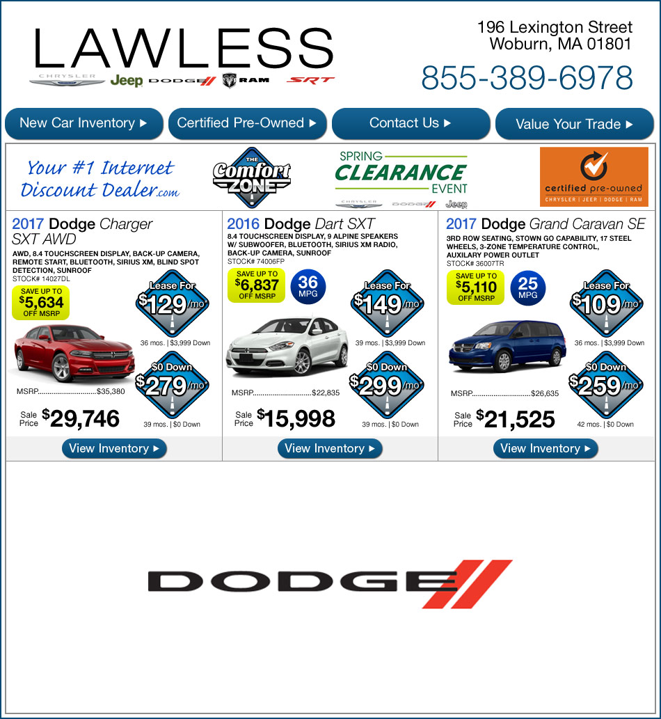 Lawless Dodge New Car Specials