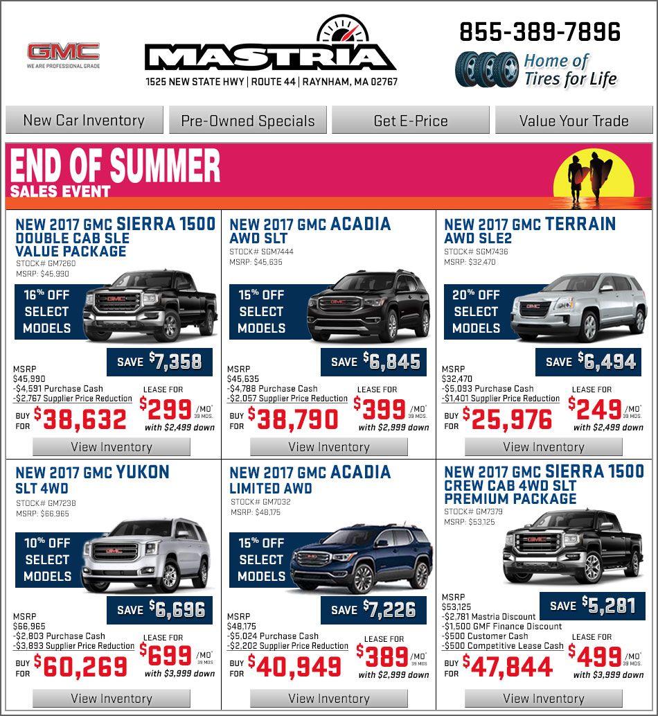 Buick Lease Deal: Boston.com Shop Mastria GMC New Car Offers Online