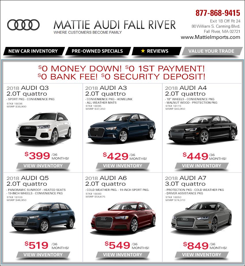 Mattie Audi Weekly New Car Internet Deals. Serving