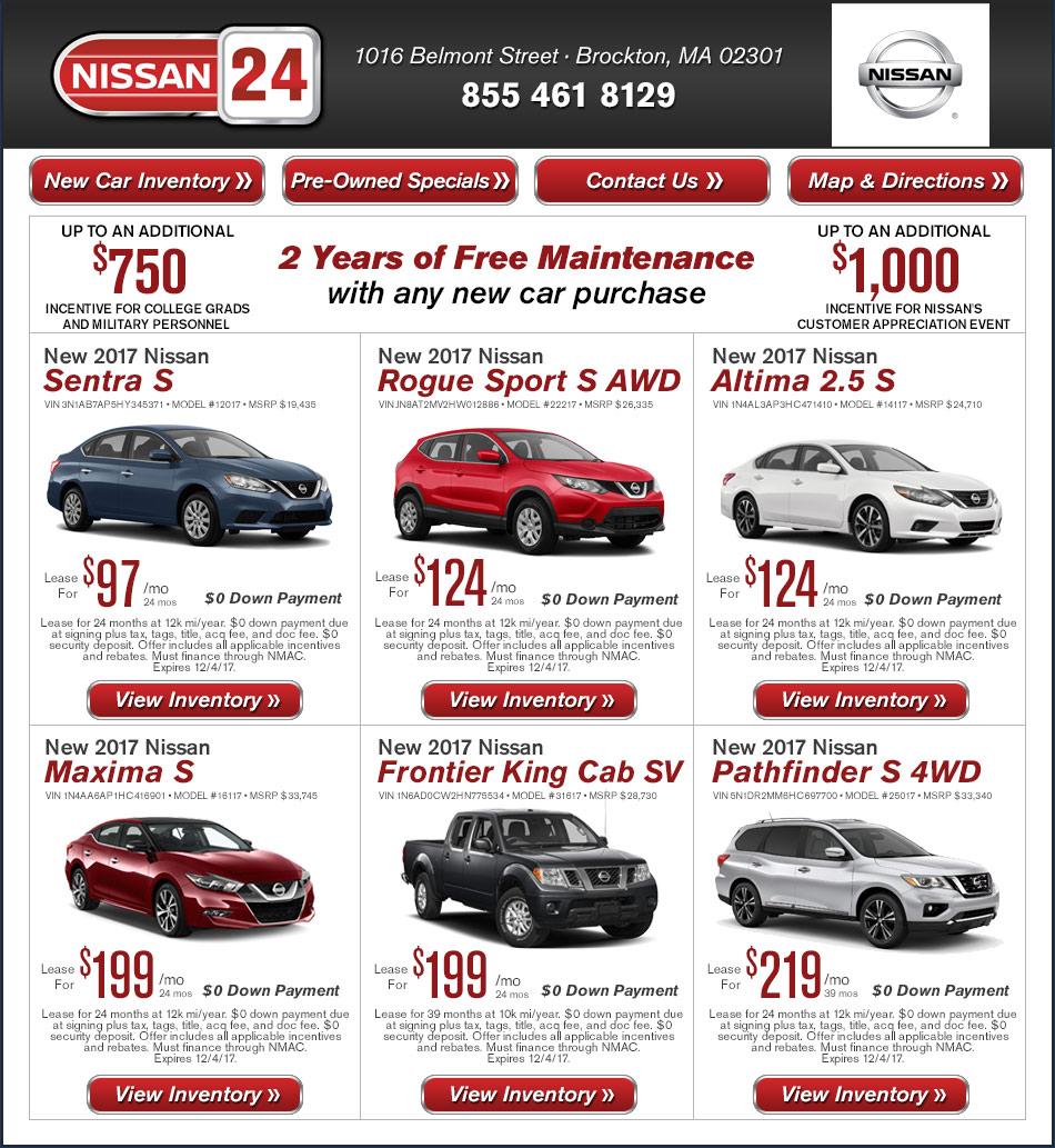 New Car Rebates Nov