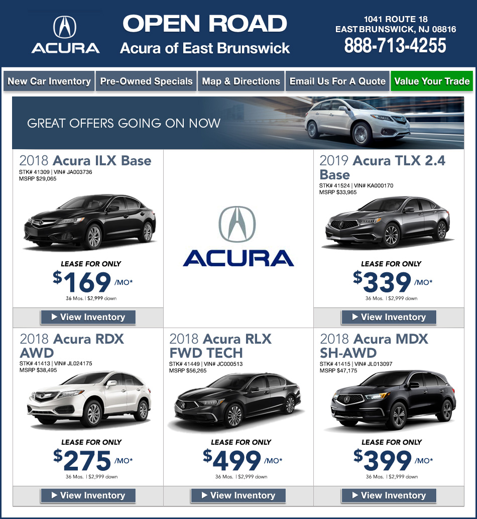 open road acura of east brunswick new jersey acura dealers. Black Bedroom Furniture Sets. Home Design Ideas