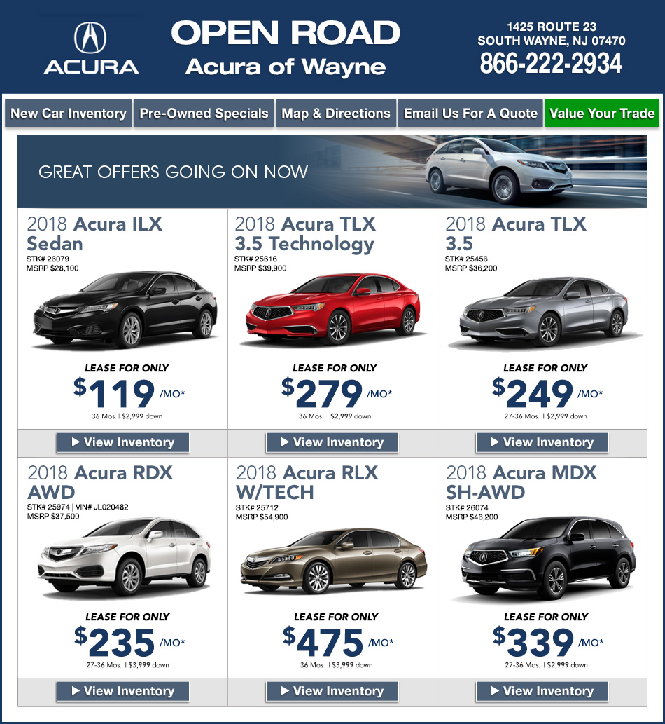 Acura Rdx Lease: New Jersey Acura Dealers
