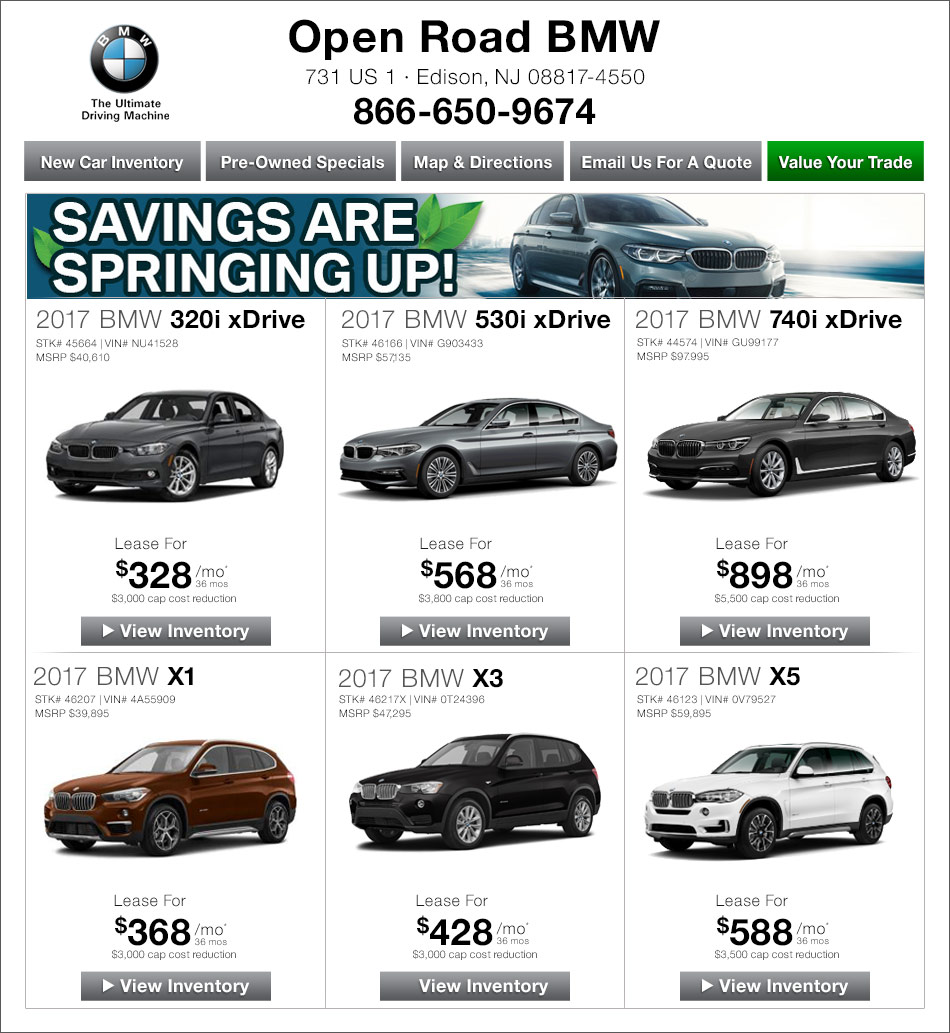 Audi Lease Specials Nj: Open Road BMW Of Edison