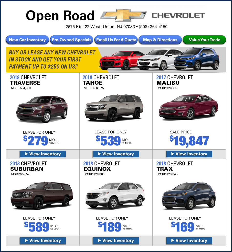 New Jersey Chevy Dealers New