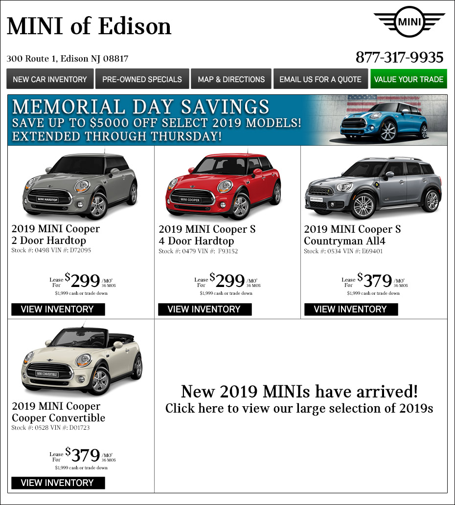 New Jersey MINI Dealers