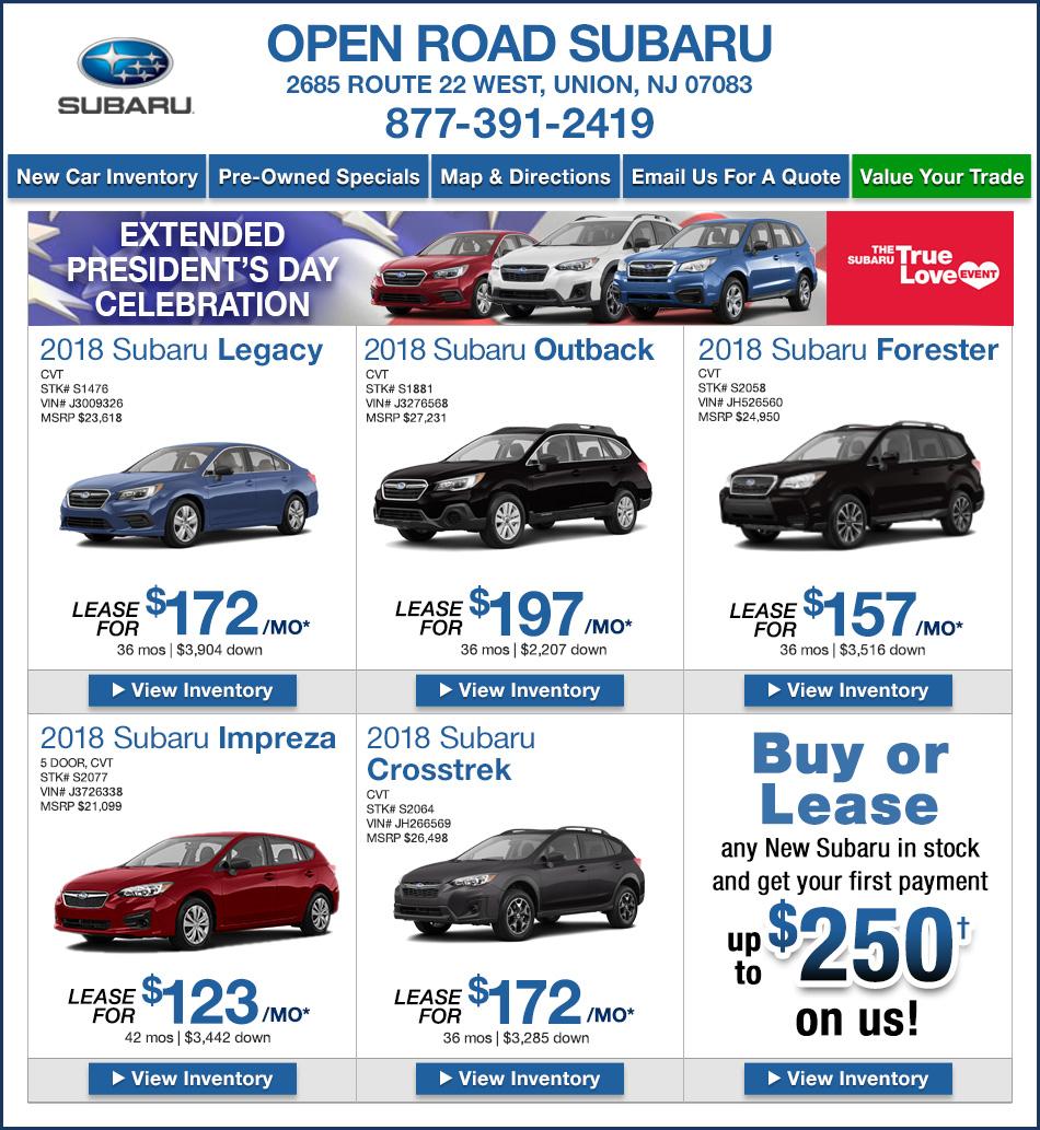 New Jersey Subaru Dealers