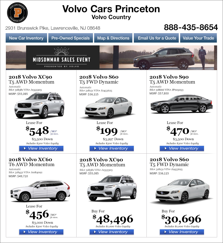 New Jersey Volvo Dealers In