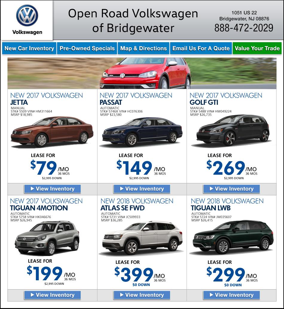 Open Road Volkswagen Of Bridgewater