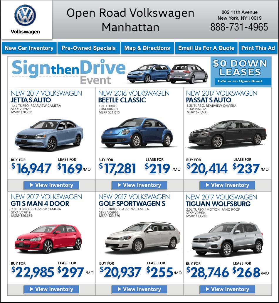 Open Road Volkswagen Of Manhattan