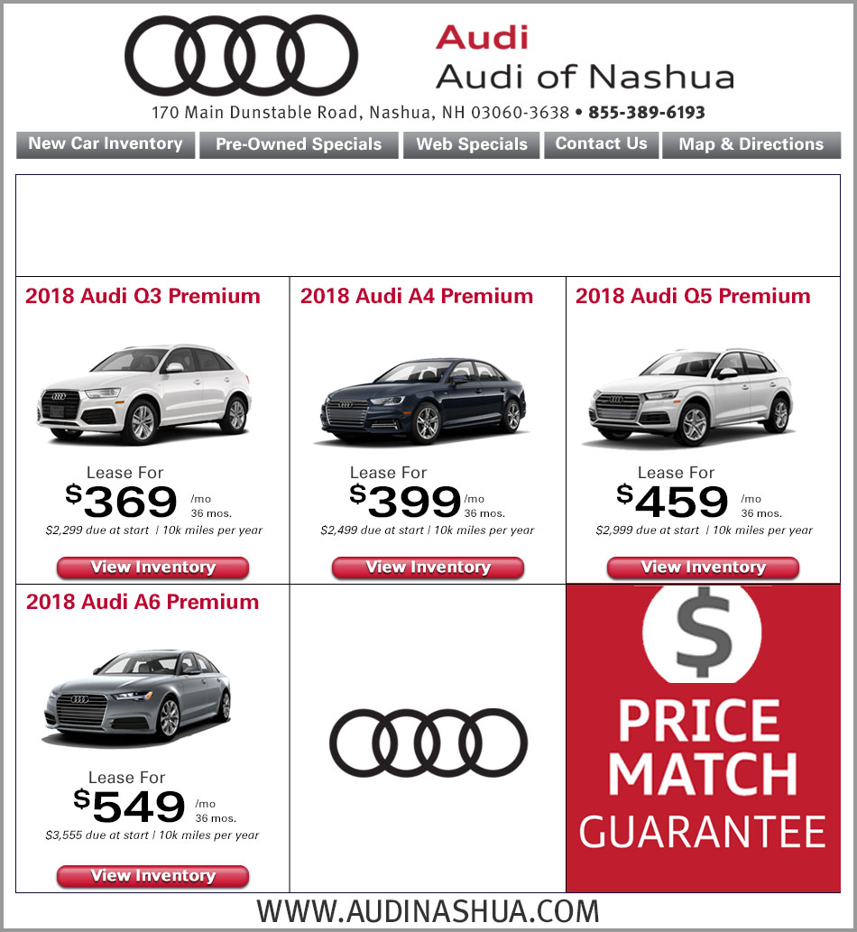 New Audi Specials Audi Dealer Nashua NH - Audi loyalty