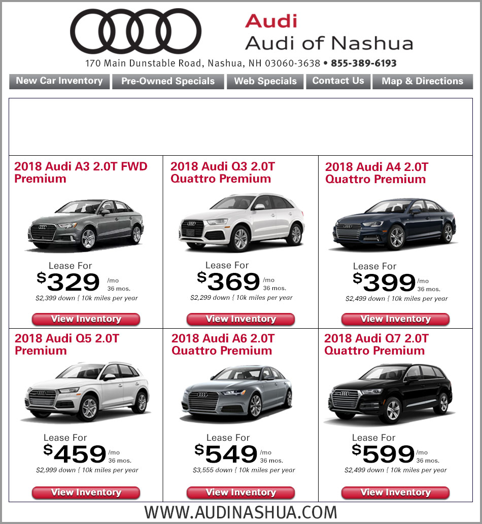 Audi Nashua Internet Specials Online New Car Lease Deals - Audi nashua