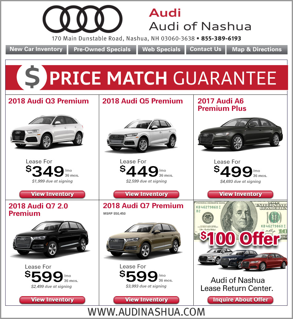 Audi A5 Lease Price: Audi Nashua Internet Specials. Online New Car Lease Deals
