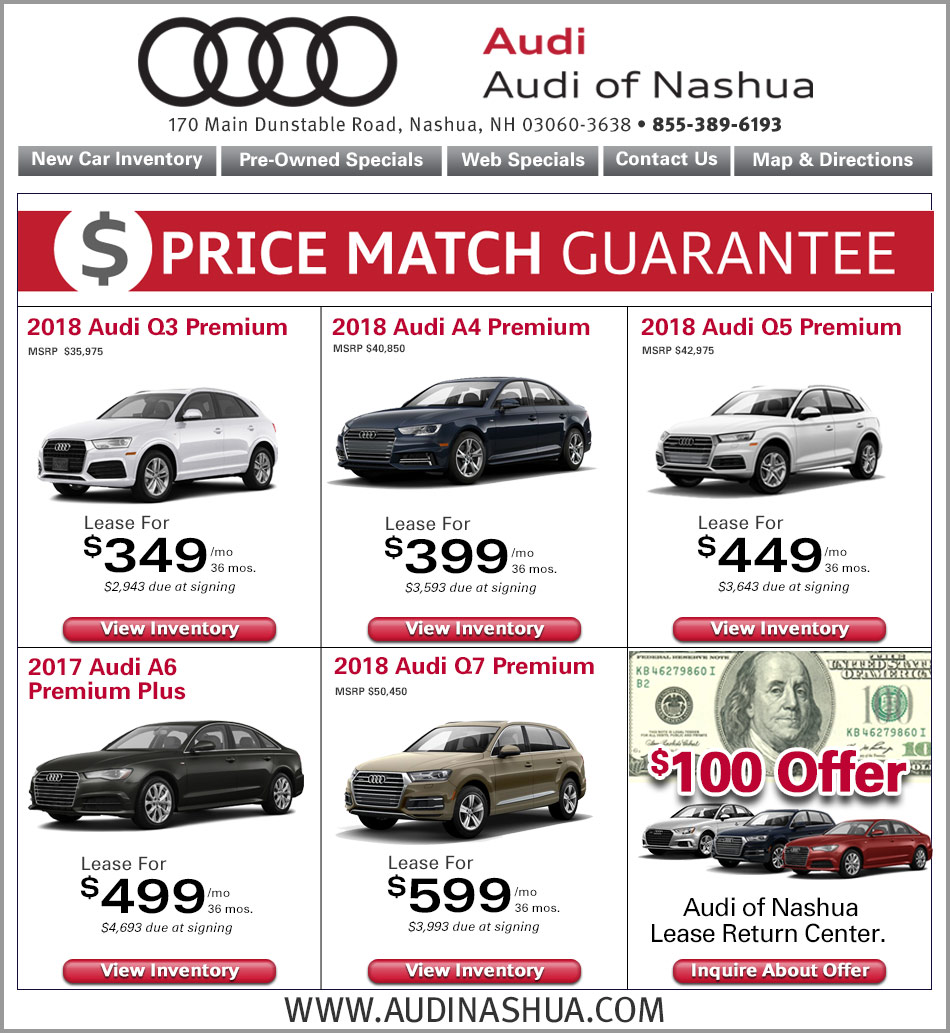 Audi Nashua Internet Specials Online New Car Lease Deals