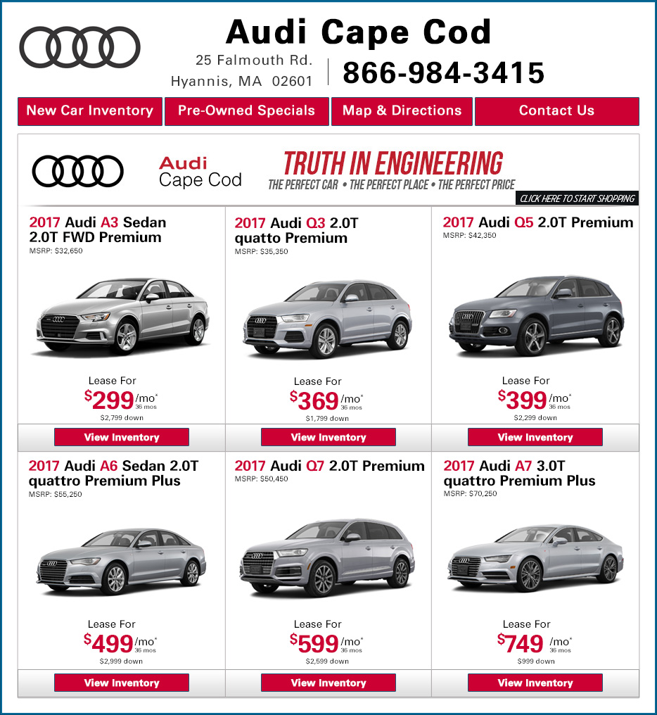Audi Cape Cod New Audi Dealership In Hyannis MA - Audi leases