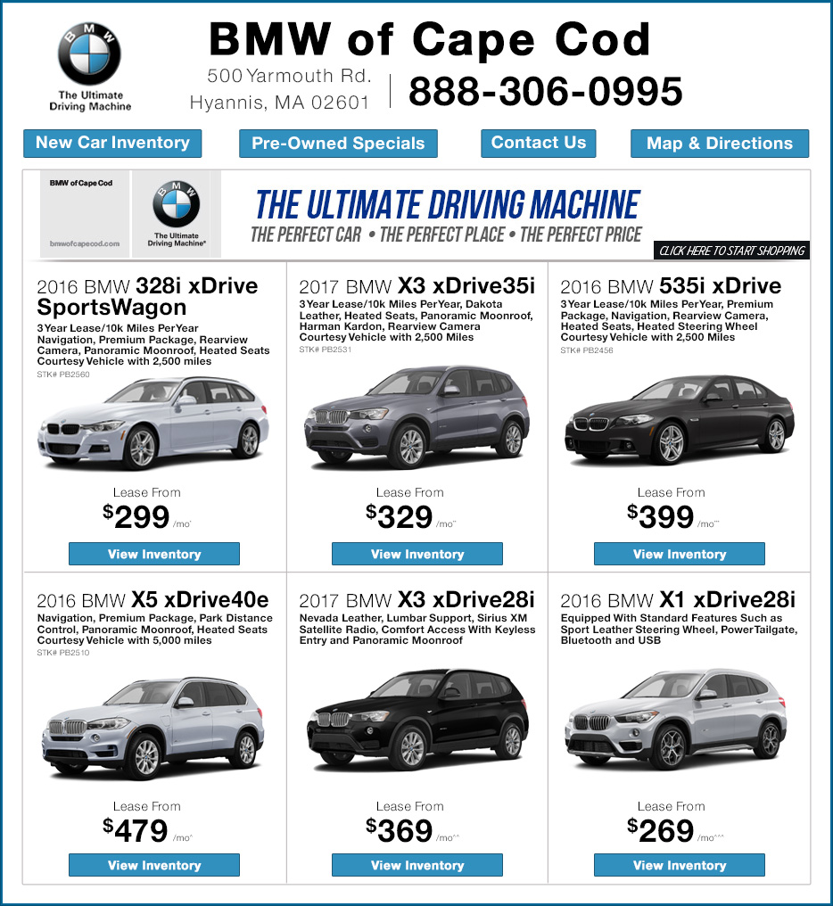 Bmw Lease Deals Ma >> Bmw Of Cape Cod New Bmw Dealership In Hyannis Ma 02601