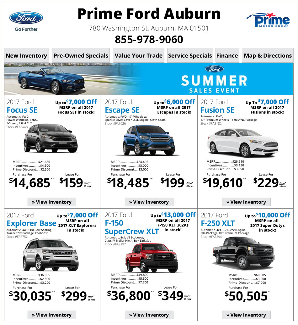 Prime Ford Auburn On Boston.com