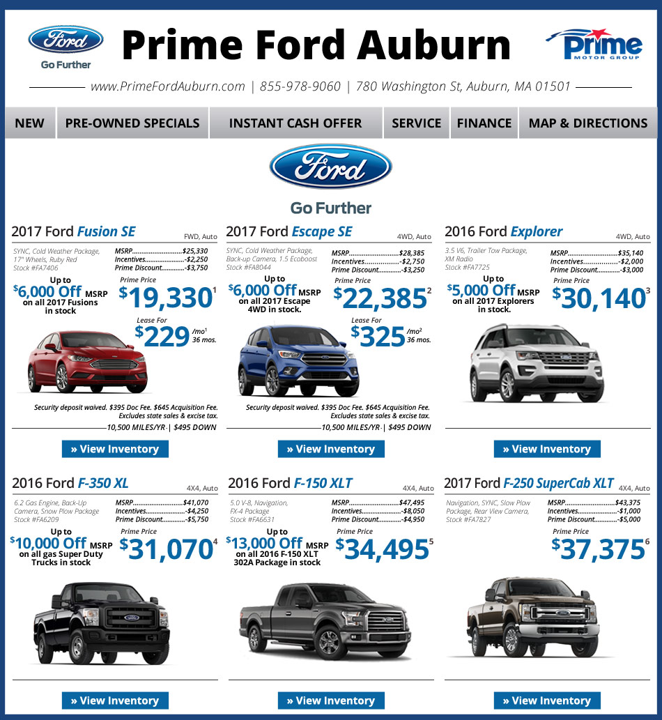 Prime Ford Auburn On Boston.com