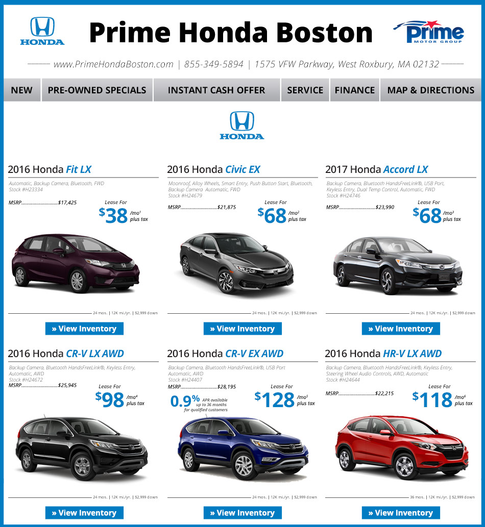 Honda Dealer In Boston : Prime Honda