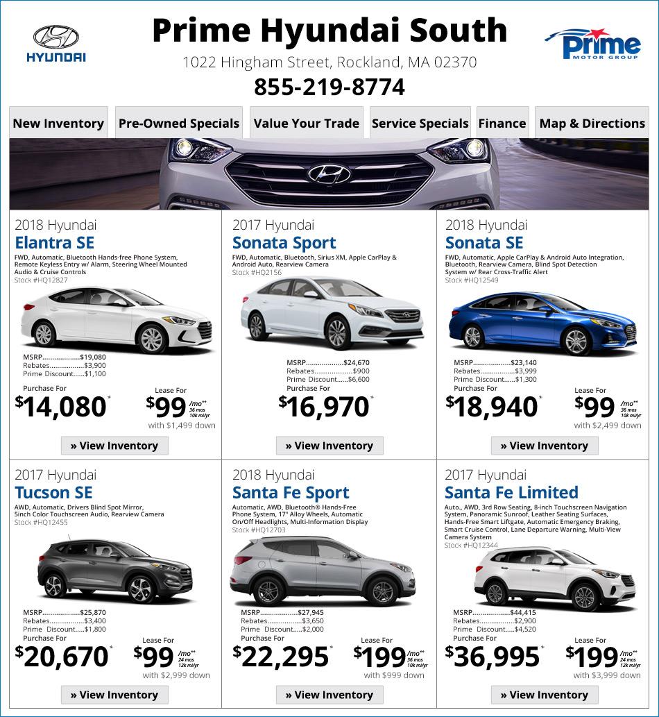 Prime Hyundai South Specials Online At Boston.com