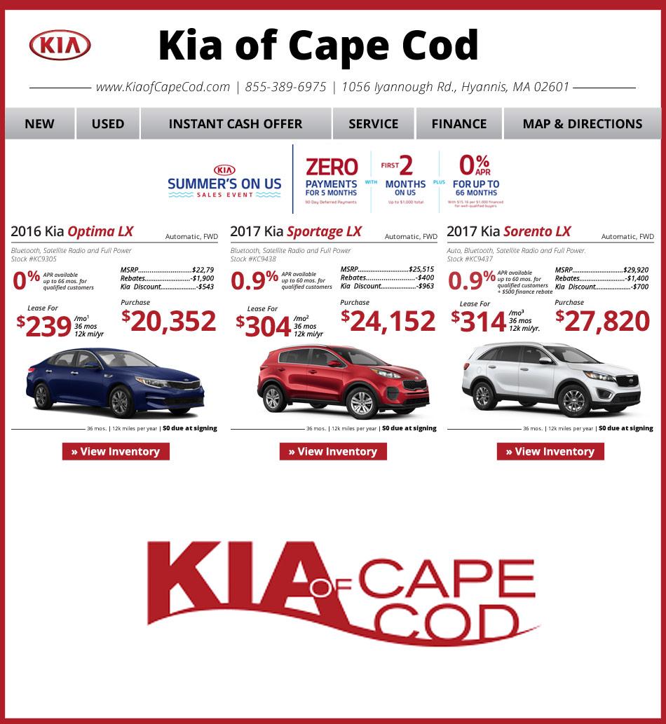 Kia Cape Cod On Boston.com