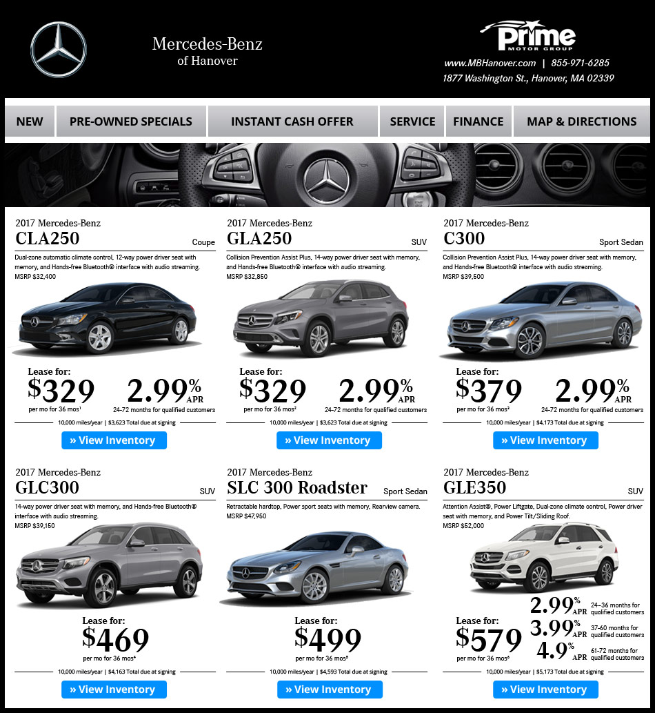Mercedes-Benz Of Hanover New Car Offers