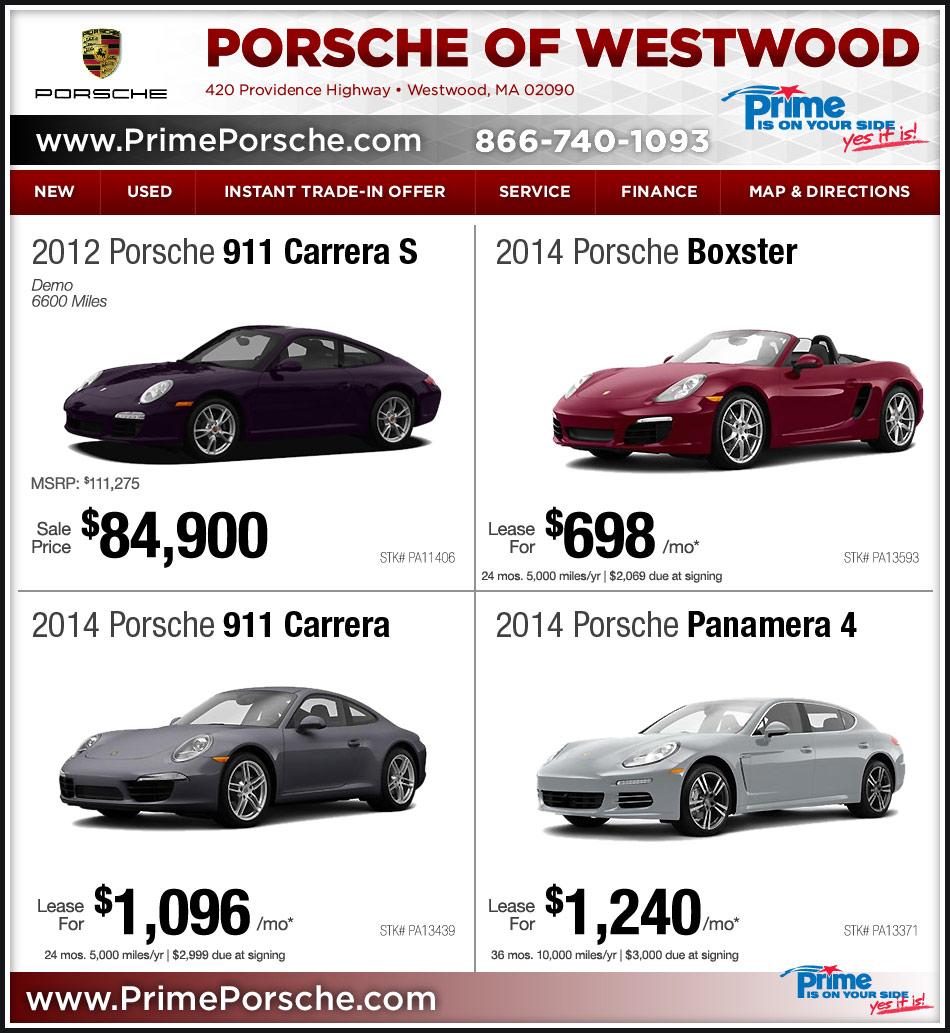 Prime Porsche: Dealer On Boston.com Westwood, MA Porsche