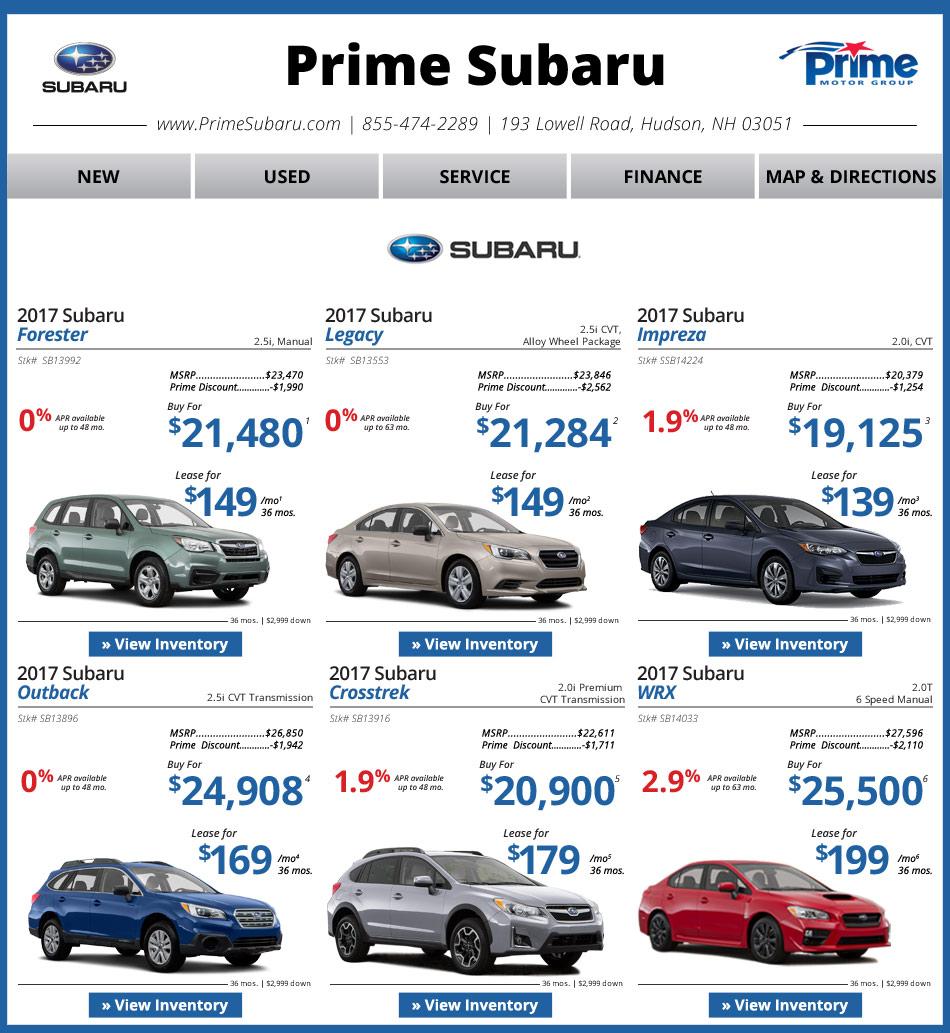 Prime Subaru Of Nashua, NH