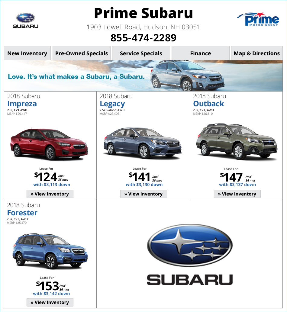 Prime Subaru Of Nashua, NH