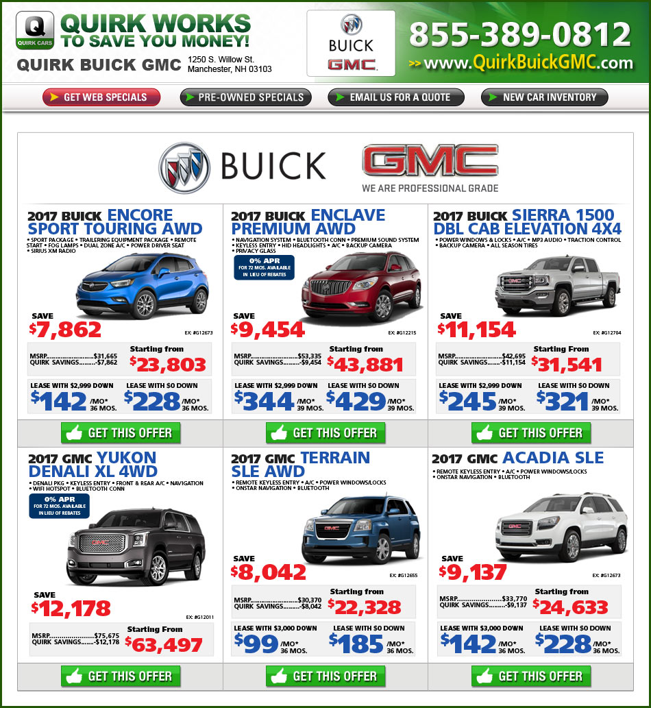 Joseph Buick Gmc Lease Offers: Quirk Buick GMC In Manchester