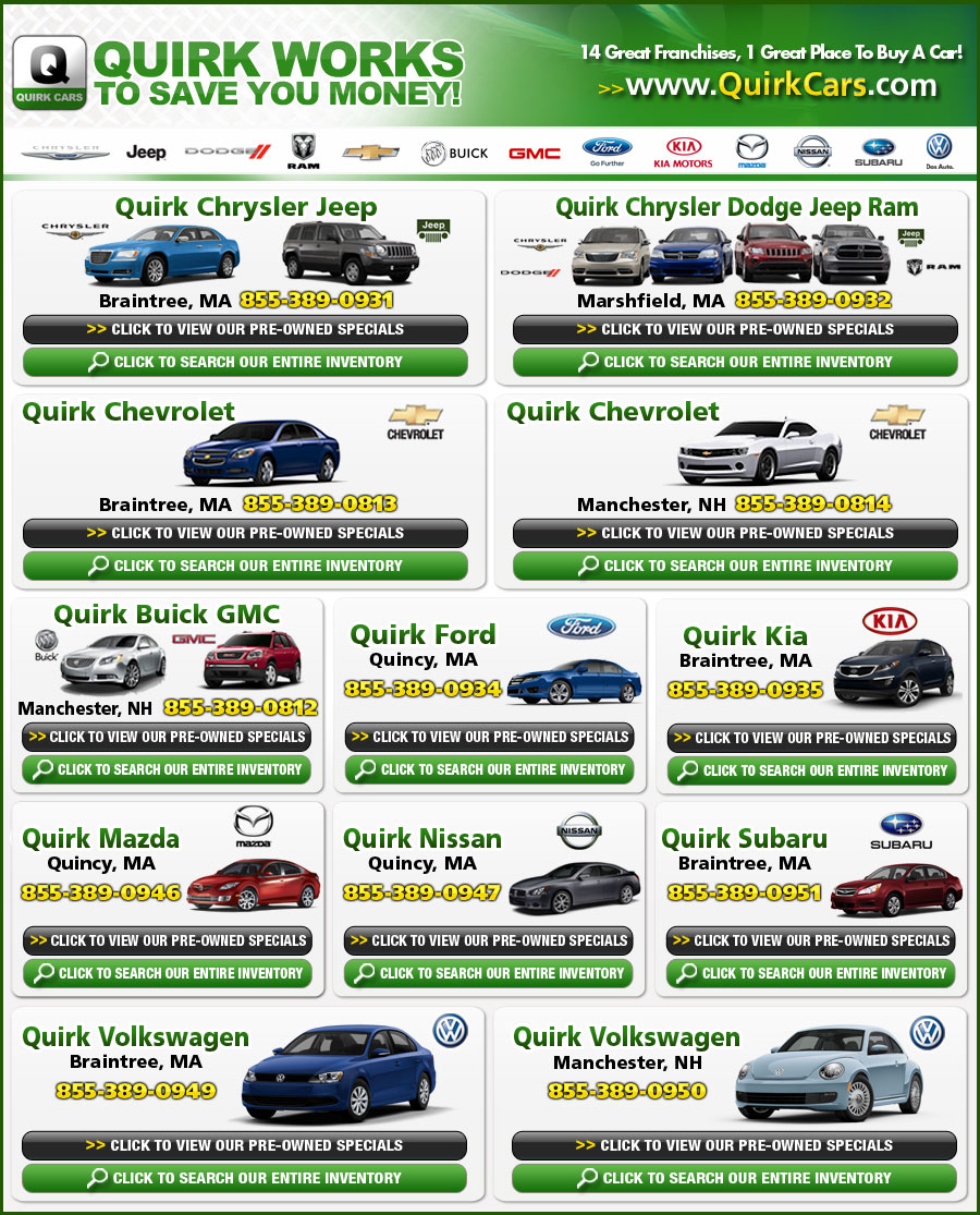 Quirk Cars Works To Save You Money On A New Car In Boston