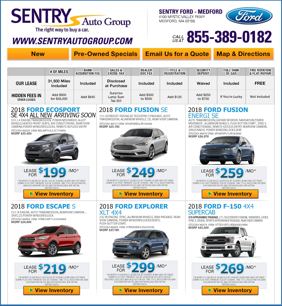 Lease Deals On Cars