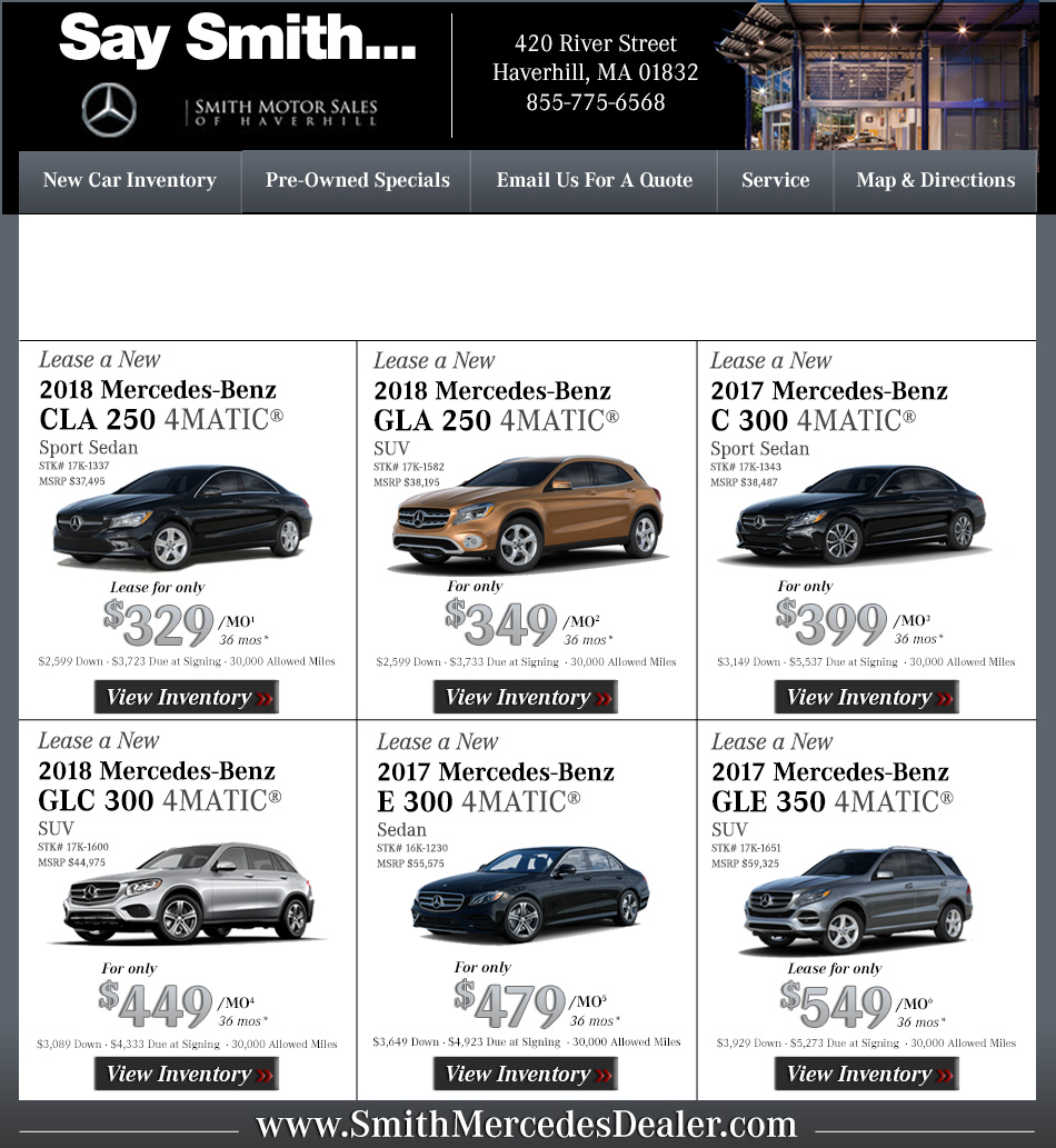 Mercedes Benz Dealers Boston Smith Motor Sales