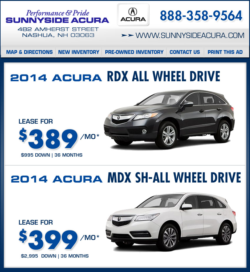 Shop Sunnyside Acura Of Nashua, NH New Acura Deals On