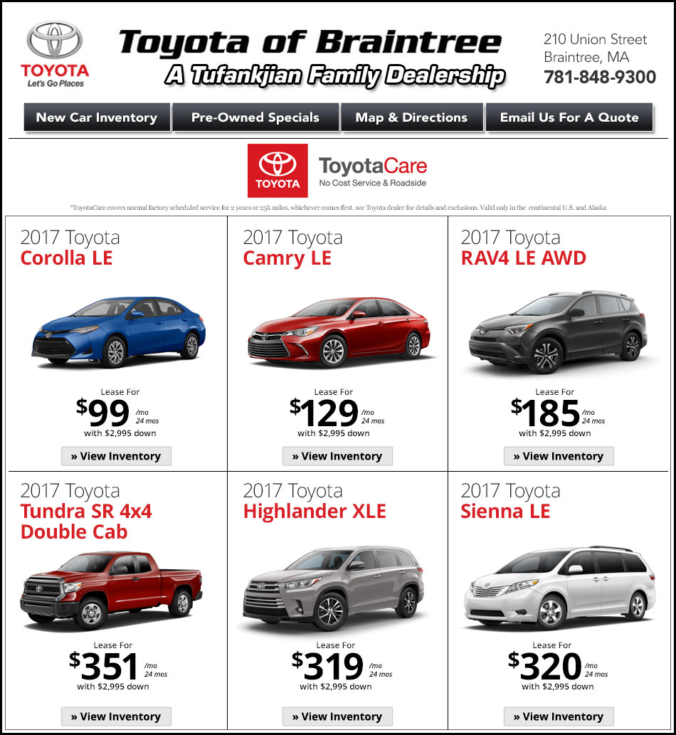 Toyota Dealerships Ma: Toyota Of Braintree
