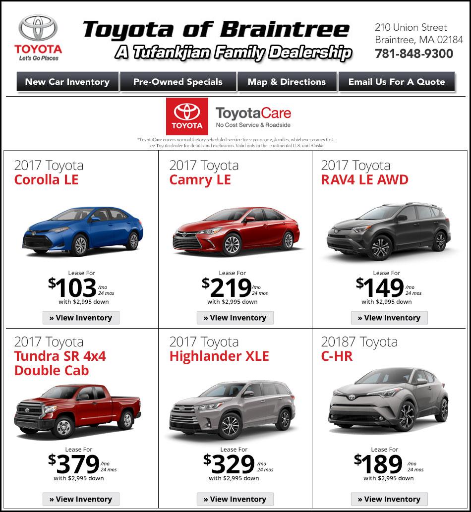 Ma Toyota Deals Toyota Of Braintree