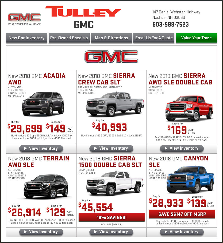 price down three quarters lease acadia gmc inventory front promotion deal leases zero low best
