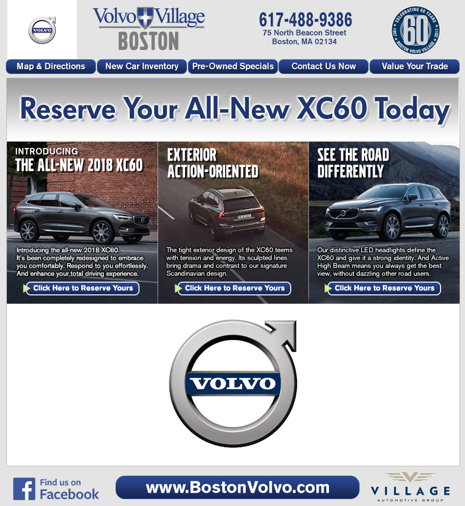 village volvo Volvo cars cincinnati east serves cincinnati, dayton, covington, and fort thomas, ky view our entire inventory online, then visit us for a test drive.