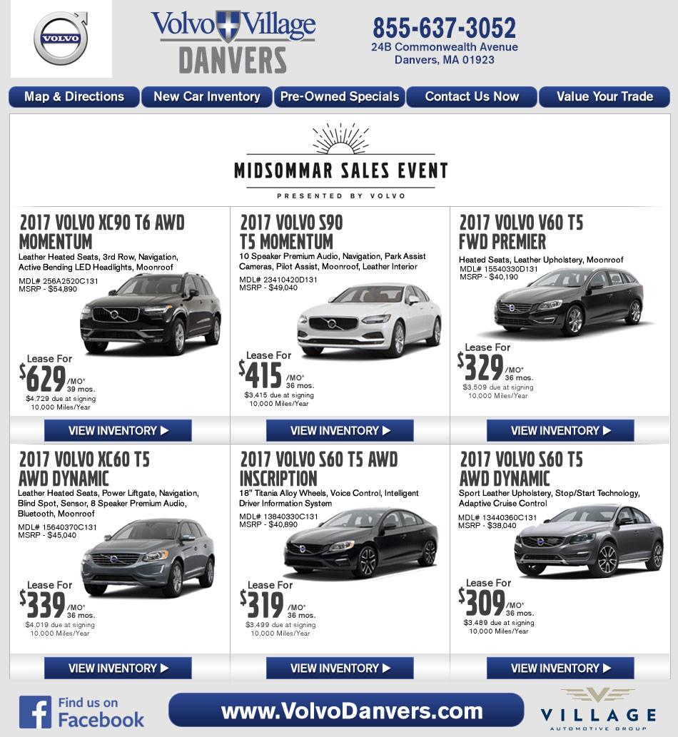 Danvers, MA Volvo Dealership : Volvo Village MA New Car Deals