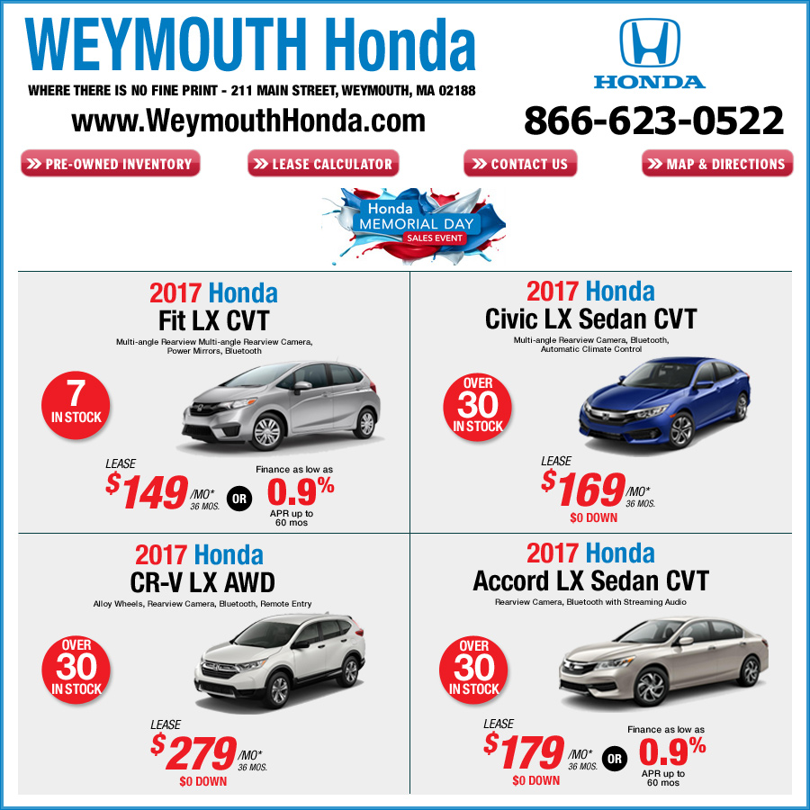 $0 Cash Or Trade, Excludes Applicable State Tax, $135 MA State Reg, $595  Lease Acq. Fee, $344 Doc Fee Due At Signing. All Leases 12,000 Miles A Year.