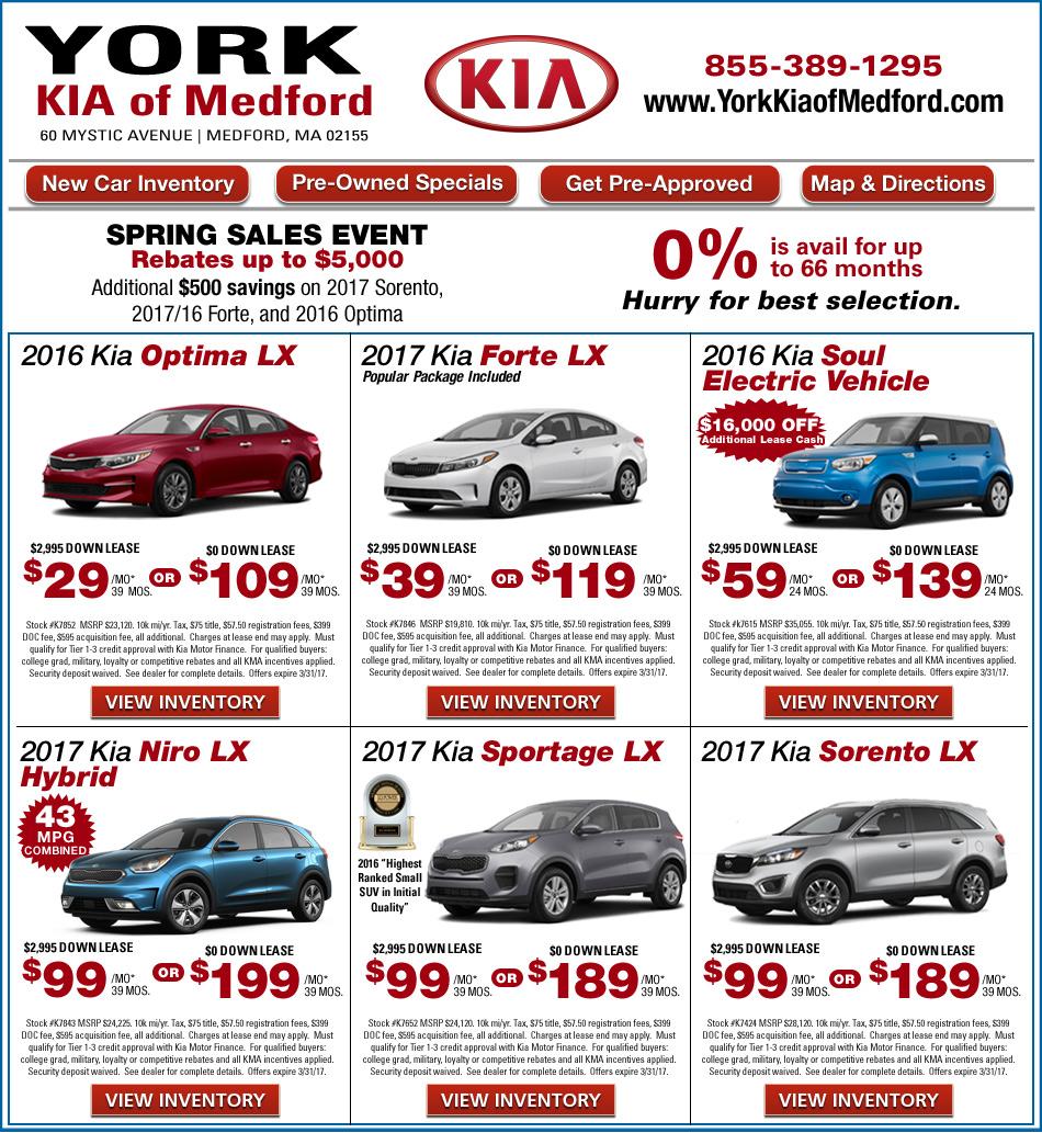 York Kia Of Medford On Boston Com Shop New Kia Offers Online